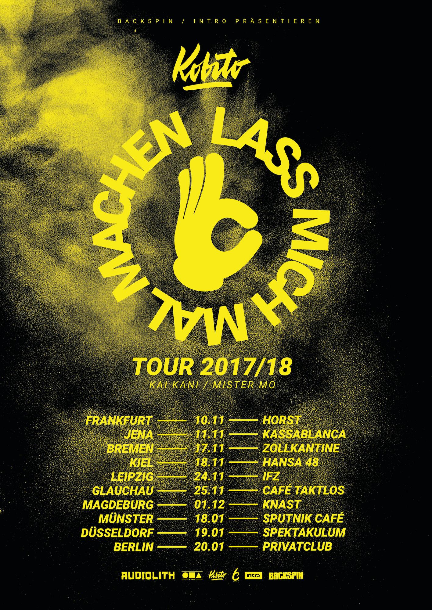 Tourplakat_Kobito_Lass Mich Mal Machen-online